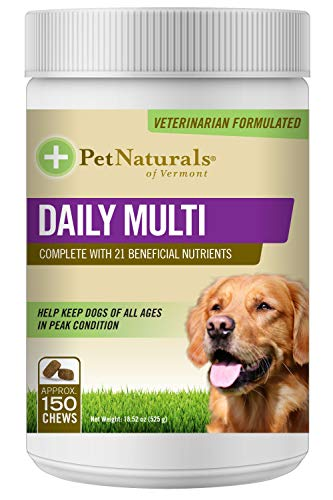 Pet Naturals of Vermont - Daily Multi for Dogs, Daily Multivitamin Formula, 150 Bite Sized Chews