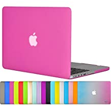 """Easygoby Case For Retina 13-inch - Matte Silky-Smooth Satins Touch Hard Shell Case Cover for 13"""" MacBook Pro 13.3"""" with Retina Display Model A1425 /A1502 (NO CD-ROM Drive)- Hot Pink"""