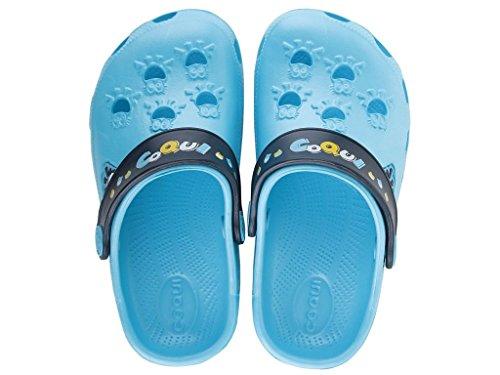 Coqui Lttle Frogg 8701 Kinder Clogs Sandalen Badeschuhe Gartenschuhe für Mädchen & Jungen blue-navy