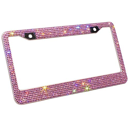 Compare price to pink sparkle license plate frame | TragerLaw.biz
