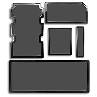 DEMCiflex Dust Filter Kit for Corsair Obsidian 750D (5 Filters), Black Frame, Black Mesh by DEMCiflex
