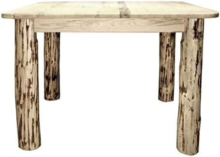 Montana Woodworks Collection 4 Post Square Dining Table