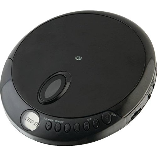 GPX PC301B Portable CD Player with Stereo Earbuds and Anti-Skip Protection (PC301B)