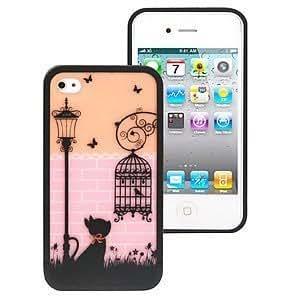 ERO fashion TPU Cover for iPhone 6 plus 5.5 & 6 plus 5.5S, Black Cat