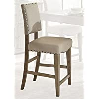 Liberty Furniture 645-B650124 Weatherford Dining Upholstered Counter Chair, 19 x 19 x 43, Brownstone Caramel