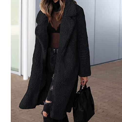 Long Blends Size Lady Office Donna Cappotti Over Black Giacche Winter Egcra Streetwear Yxwq4HTt