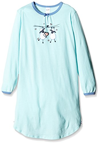 Huber Mädchen Nachthemd Sleepshirt lg. A., Gr. 116, Mehrfarbig (blue light 017404)