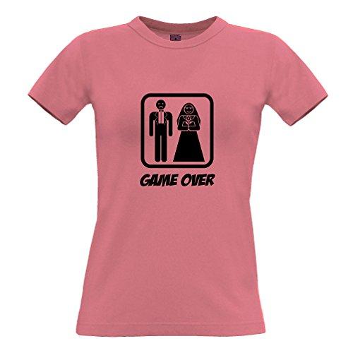 Game Over Stag Gallina di nozze del matrimonio Sten Hag Divorzio divertimento sciocco T-Shirt Da Donna