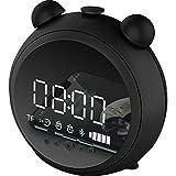 BLWX - Multifuncional Electrónico Inteligente Reloj Despertador Estudiante con Bluetooth Audio Altavoz Infantil Lindo de Dibujos Animados Silencioso Mesita Luminosa Reloj Despertador Despertador