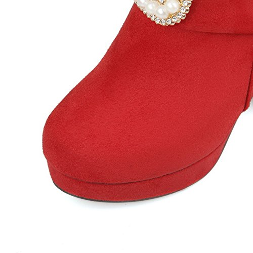 Boots Ornament Frosted Girls Glass Heels Red Diamond Chunky Metal A amp;N qCXRqz
