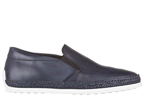 Tod's slip on homme en cuir sneakers blu