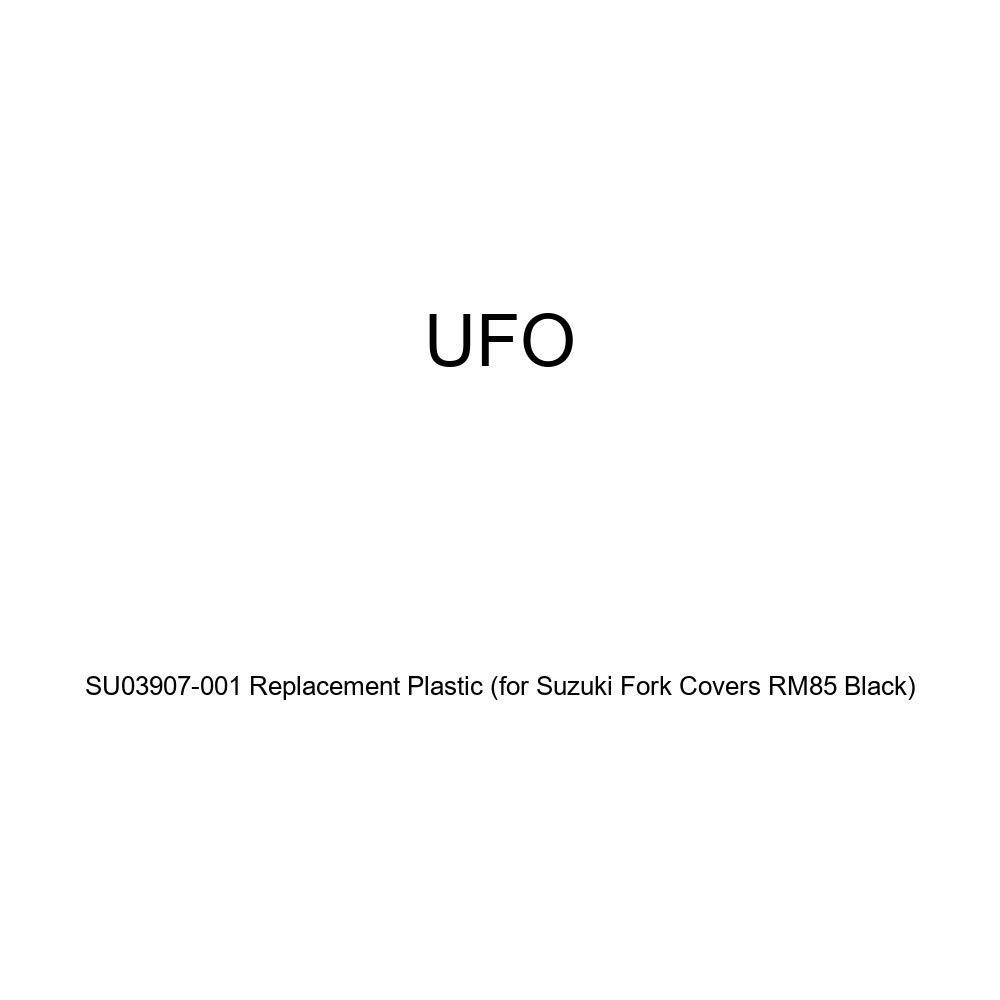 UFO SU03907-001 Replacement Plastic FOR SUZUKI FORK COVERS RM85 BLACK