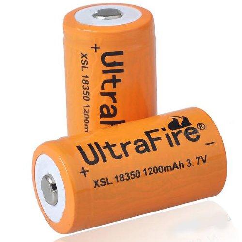 UltraFire 18350 3.7V 1200mAh Rechargeabl