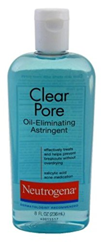 Neutrogena Clear Pore Astringent Oil Eliminating 8 Ounce (235ml) (2 Pack)