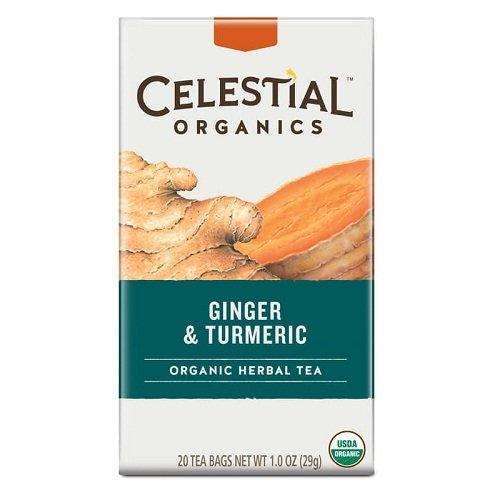 Celestial Seasonings Tea herbal Organic Ginger Turmeric Bag,