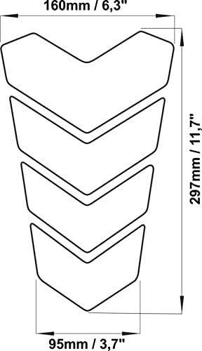 Silber Tankpad f/ür YAMAHA TDM 850 900 TWIN