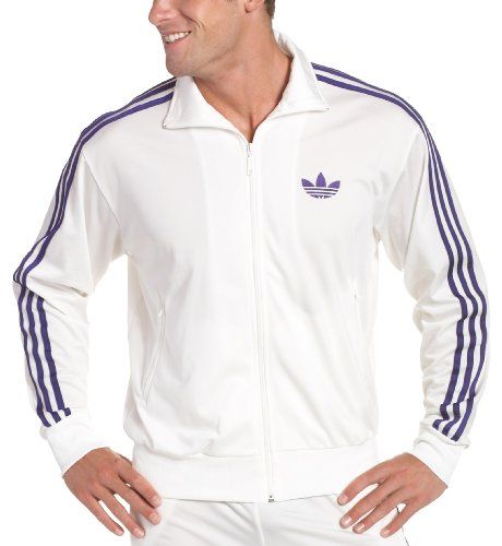 adidas Men's Firebird Track Top,White,XX-Large Adidas Mens Firebird Track