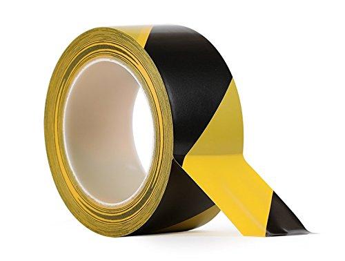Black & Yellow Hazard Warning Safety Stripe Tape 2