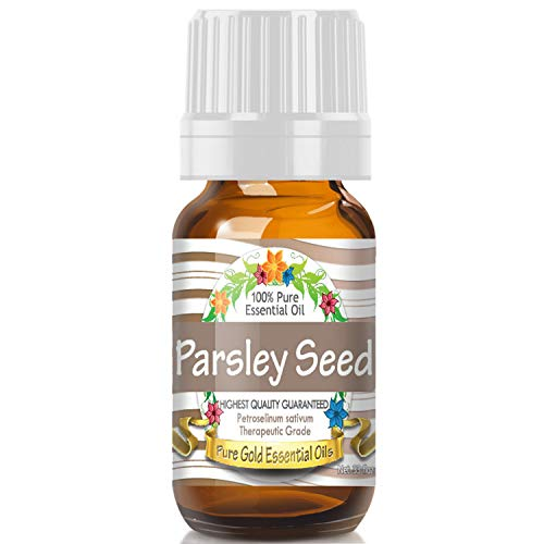 (Parsley Seed Essential Oil (100% Pure, Natural, UNDILUTED) 10ml - Best Therapeutic Grade - Perfect for Your Aromatherapy Diffuser, Relaxation, More!)