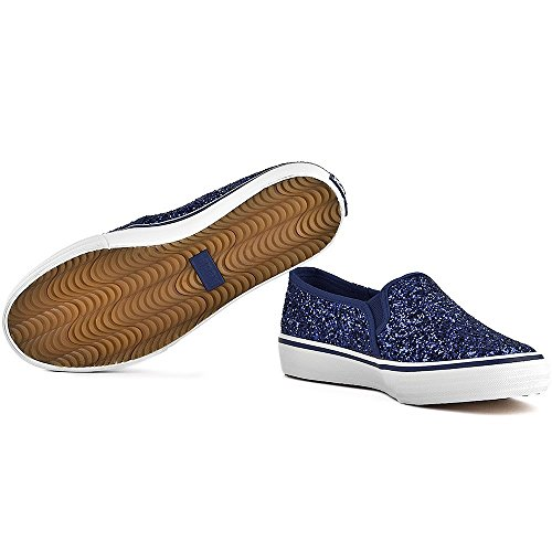 Zapatillas Keds modelo Double Decker Glitter Azul purpurina
