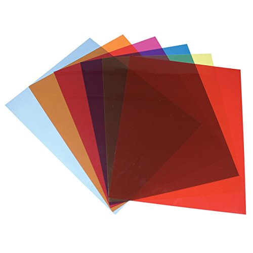 Plastic Tinted Reading (Tinted Plastic Reading Sheets, Set of 5)