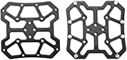 1 Pair Aluminum Alloy Universal Clipless Pedal Platform Adapters for SPD