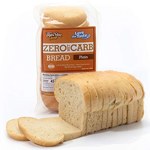 ThinSlim Foods Keto Low Carb Bread - Plain Bread, 2 Pack (14 Slices Each)