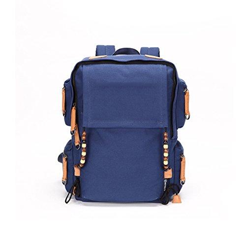 MUMA Daypacks Retro Canvas Tasche Große Kapazität Rucksack Studententasche ( Farbe : Red - large ) Navy Blue - Small 0j1CFqCD3Q