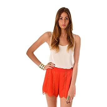 Hipster Orange Short Shorts For Women
