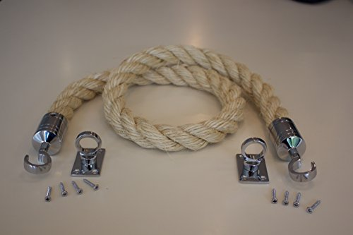 1 Mtr Decking Rope System 2 End Hooks   Fixing Plates