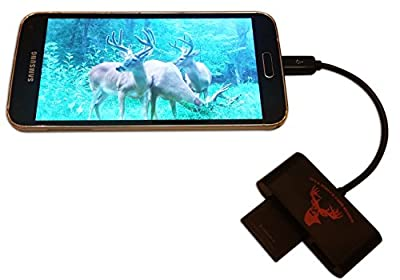 BuckStruck Game and Trail Camera Viewer for Android Devices, Micro Usb Connection, Reads & Writes SD and Micro SD Cards for Hunting and Game Camera Card Reader