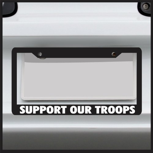 (Sticker Connection | Support Our Troops | License Plate Frame, Fits Standard USA License)