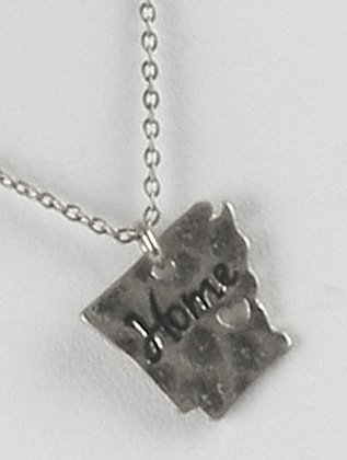 Destinees silver STATE OF ARKANSAS MESSAGE CHARM NECKLACE