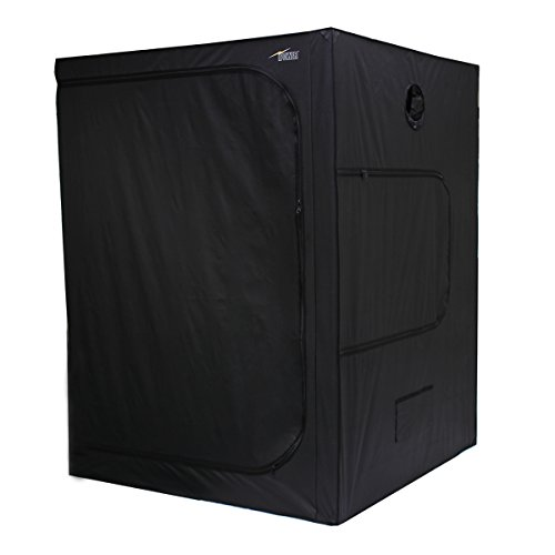 iPower 60''x60''x80'' Hydroponic Water-Resistant Grow Tent with Removable Floor Tray for Indoor Seedling Plant Growing 5'x5' by iPower