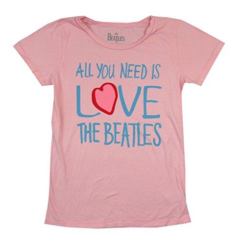 All You Need is Love Girls Juniors Pink T Shirt (Need Juniors T-shirt)