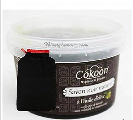 Jabón Negro Natural con aceite de oliva, 250 g, y 1 guante kessa ...