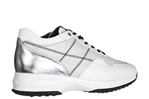 Hogan Sneakers Donna Scarpe Da Ginnastica In Pelle Da Donna Bianche Interattive