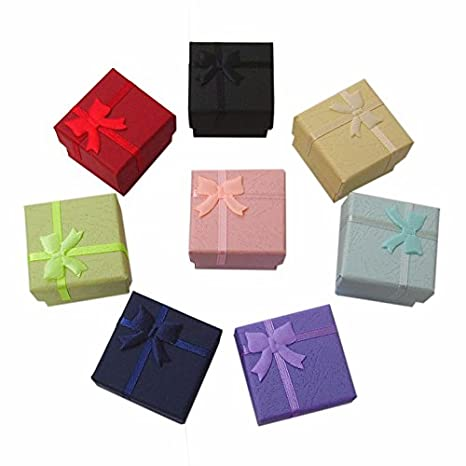 Liroyal regalos de 7 piezas de joyería Cajas para anillos pendientes: Amazon.es: Hogar