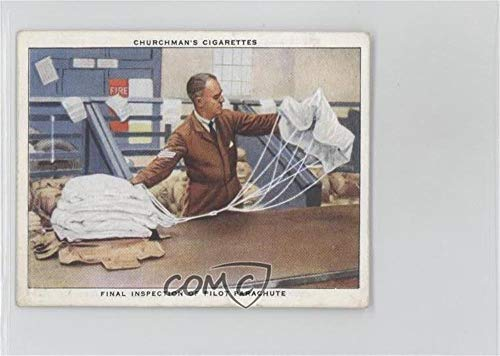 Final Inspection of Pilot Parachute (Trading Card) 1937 Churchman's R.A.F. At Work - Tobacco [Base] ()