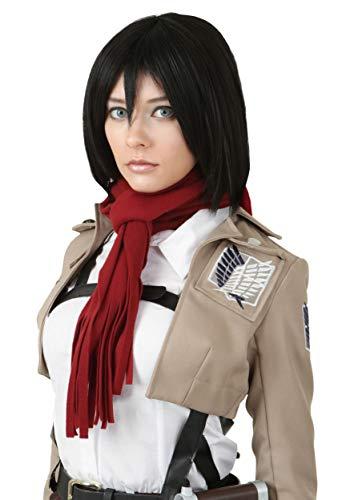 Attack on Titan Mikasa Ackerman Wig Standard Black]()