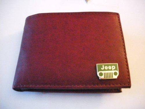Jeep Brown Cowhide Bi-Fold Leather Wallet