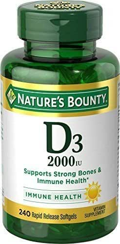 Nature's Bounty Vitamin D3 2000 IU, 240 Softgels by Nature's Bounty