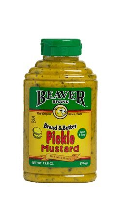 - Beaver Bread & Butter Pickle Mustard, 12.5 Ounce (Pack of 6)