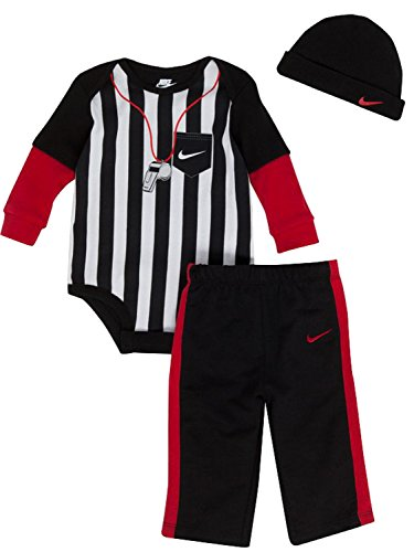 [Nike Baby Boys Mock-layer Referee Bodysuit Set 0-3 Months] (Referee Outfit)