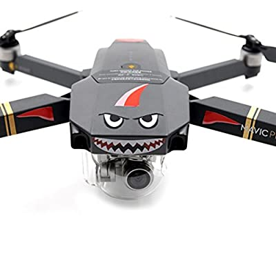 For DJI Mavic Pro RC Drone Shark Decoration Waterproof Decal Skin Sticker Nacome