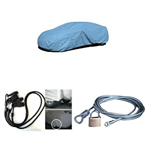 budge duro car cover with 36 complete gust guard kit and cable lock security kit. Black Bedroom Furniture Sets. Home Design Ideas