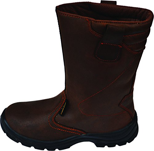 EMPEROR Brown Leather Rigger Boots (10