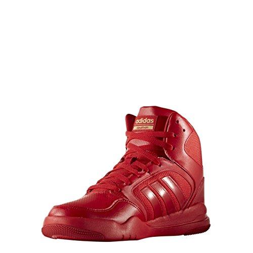 adidas Cloudfoam Rewind Mid, Zapatos de Baloncesto para Hombre, Rojo (Escarl/Escarl/Dormat), 42 EU