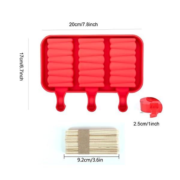 Popsicle Molds Stampo Per Gelato Popsicle Maker Popsicle Stampi Ghiacciolo Rosso Rettangolo Con Popsicle Stick… 6 spesavip