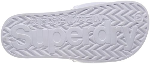 Superdry Damen Originals Pool Slide Zehentrenner Multicolore (Optic Whiteiridescent)